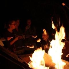 Zum Abschluss des Abends gab es Stockbrot und Marshmallows überm Lagerfeuer