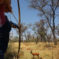 """Und Johanna """"erlegt"""" eine Antilope..."""