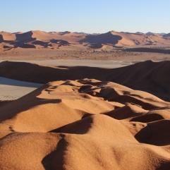 """Und last but not least: ein Blick über die Dünen von """"Big Daddy"""", der höchsten Düne Namibias, aus."""
