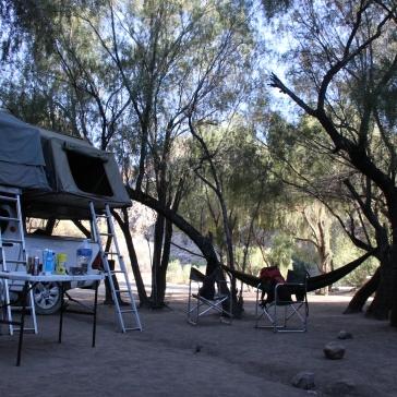 Sehr gemütlich hatten wir es an diesem Campingplatz. Schön war vor allem, dass die Bäume den ganzen Tag Schatten spendeten und es so überhaupt nicht heiß wurde.